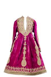WEDDING PINK VELVET AND GOLD TRADE DRESS FROM BUKHARA