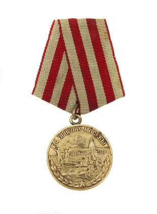 SOVIET MEDAL FOR THE DEFENCE OF MOSCOW