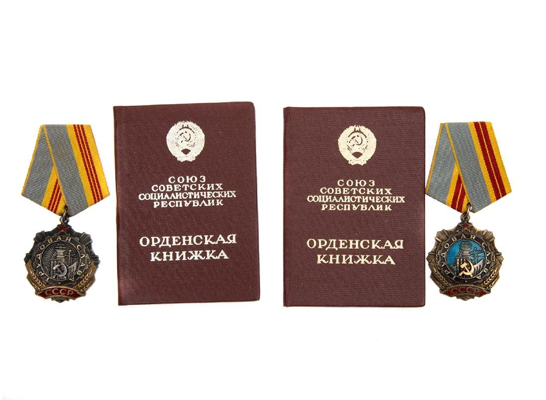 GROUP OF TWO SOVIET ORDERS OF THE LABOR GLORY