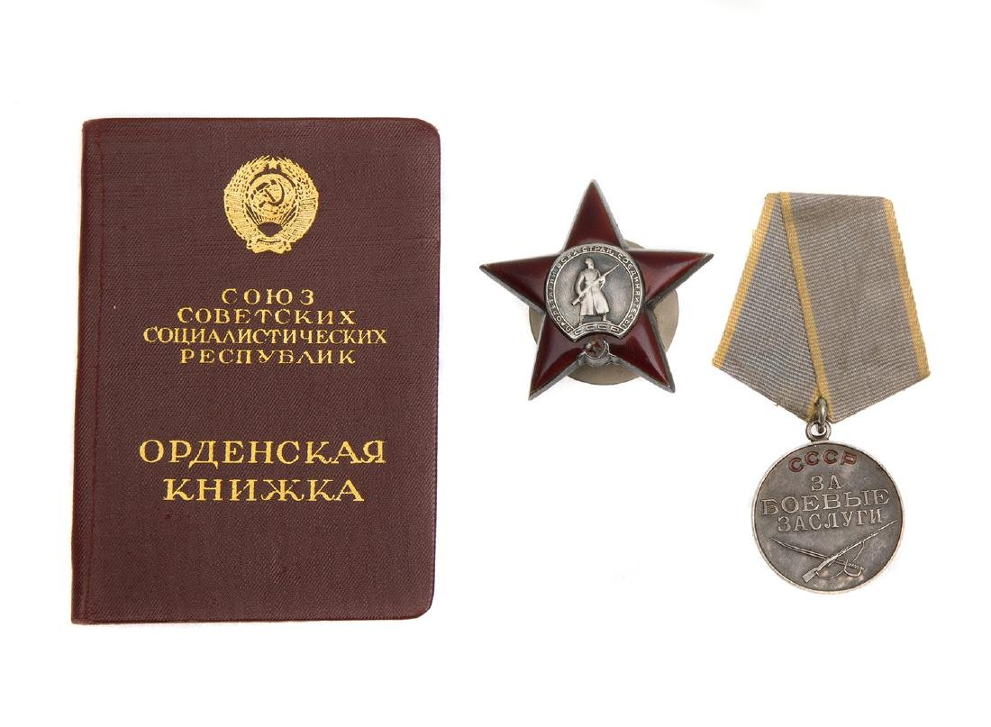 DOCUMENTED GROUP OF SOVIET AWARDS