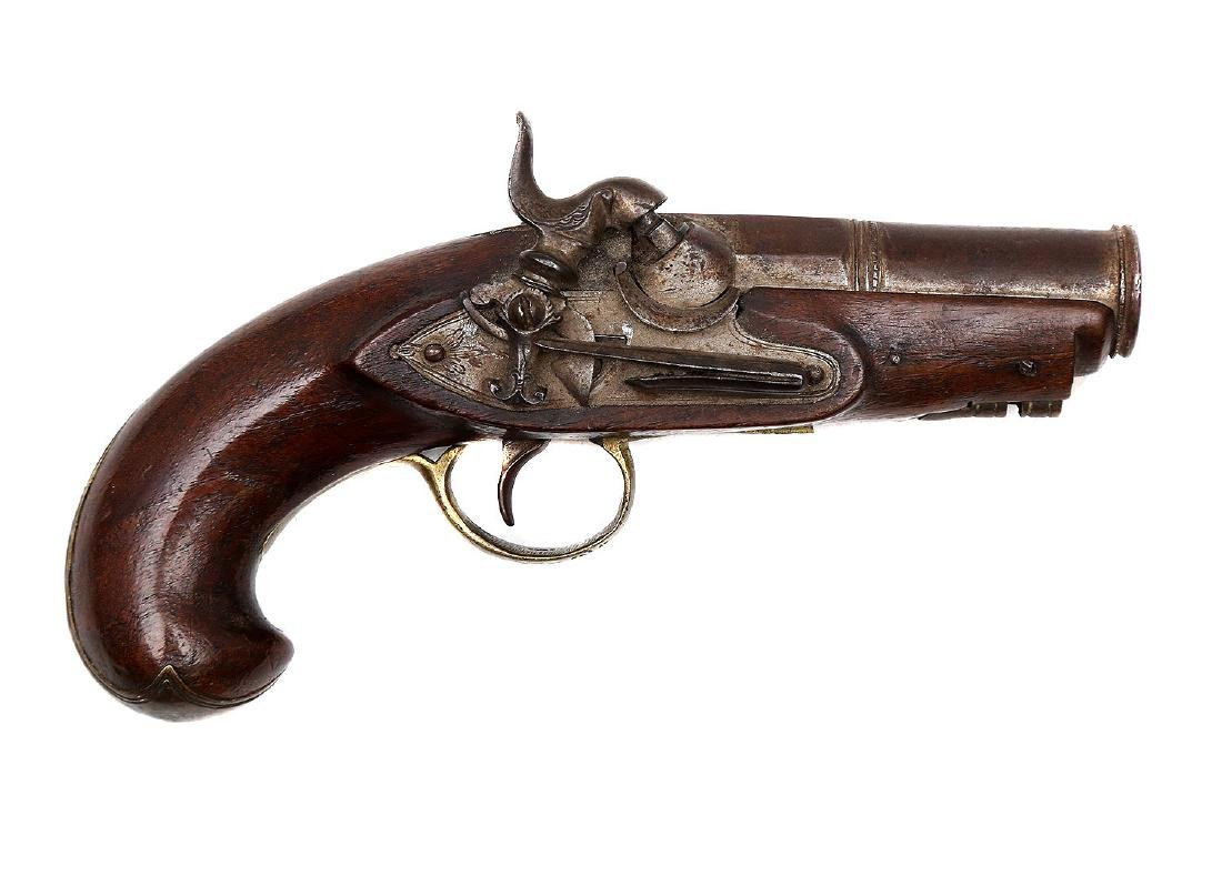 SPANISH PERCUSSION PISTOL, 19TH CEN.