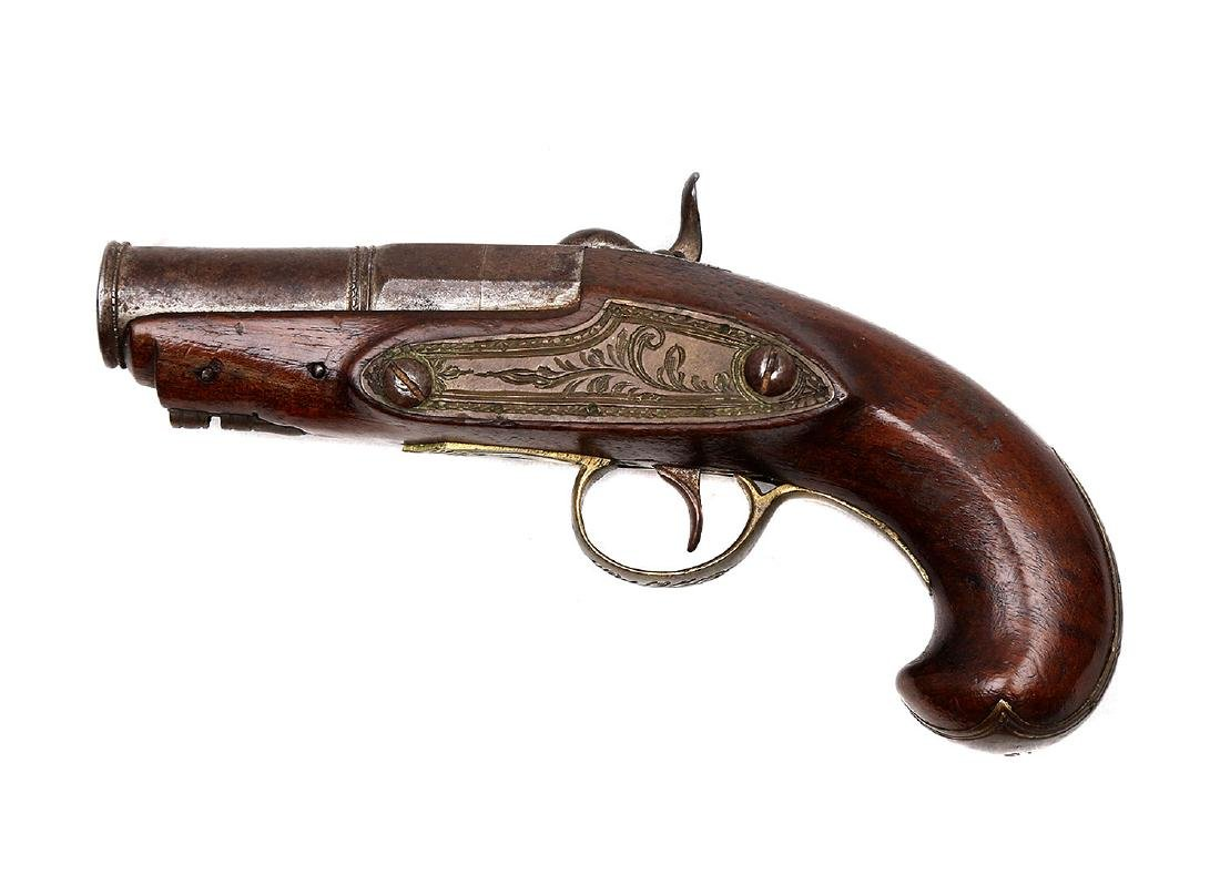 SPANISH PERCUSSION PISTOL, 19TH CEN. - 2