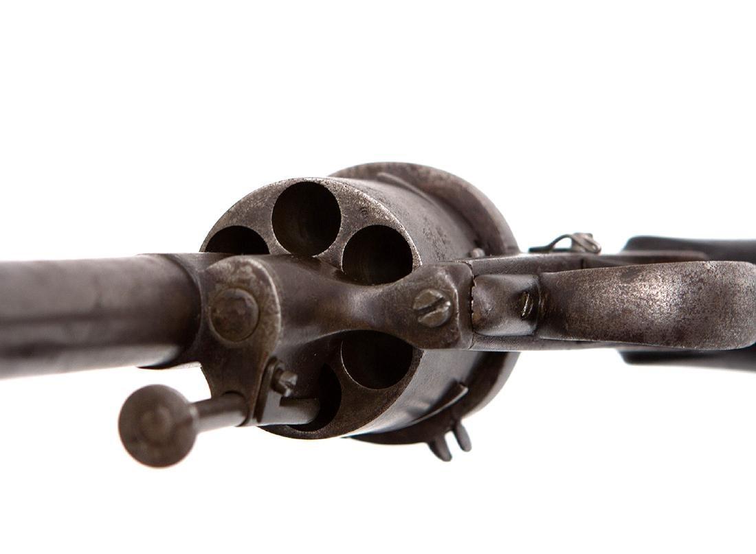 PINFIRE REVOLVER WITH FOLDING BAYONET, 19TH C. - 7