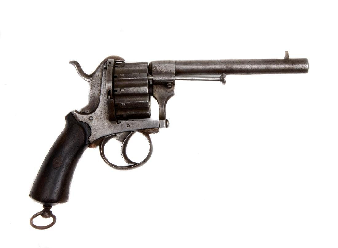 EUROPEAN 12-SHOT PINFIRE REVOLVER, 19TH C.