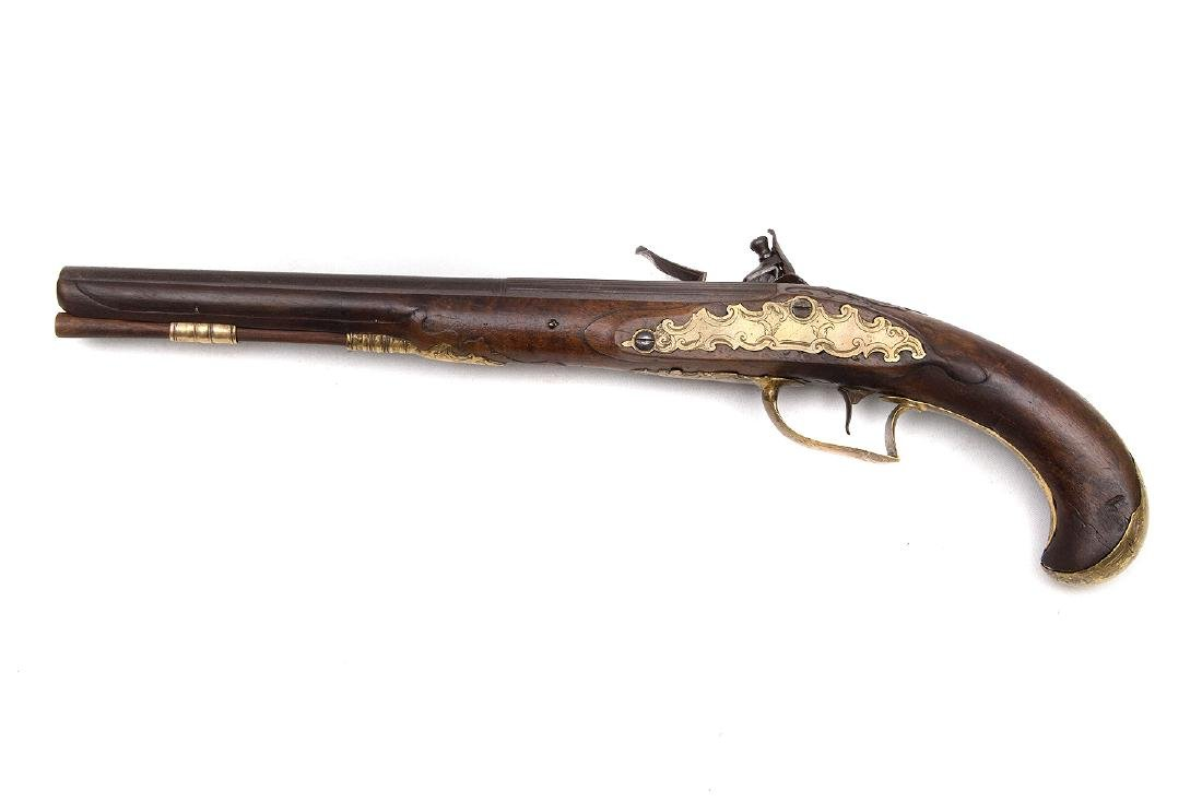 GERMAN FLINTLOCK PISTOL BY LENHART, MUNCHEN, 18 C. - 2