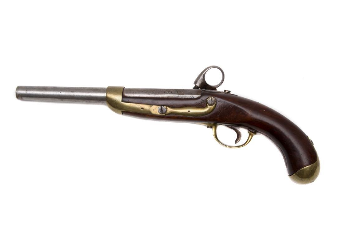 SCHLESWIG-HOLSTEIN ARTILLERY PERCUSSION PISTOL M. 1848 - 2