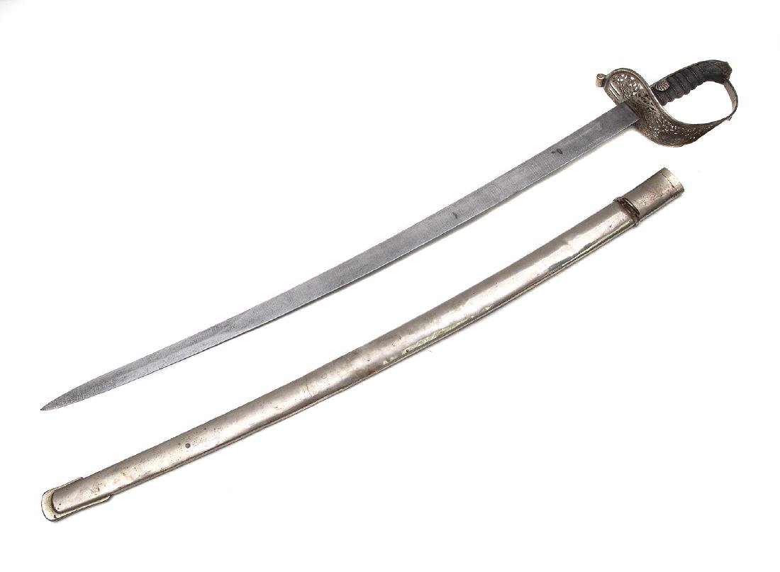 AUSTRIAN SWORD WITH DAMASCUS BLADE, 19TH C. - 2