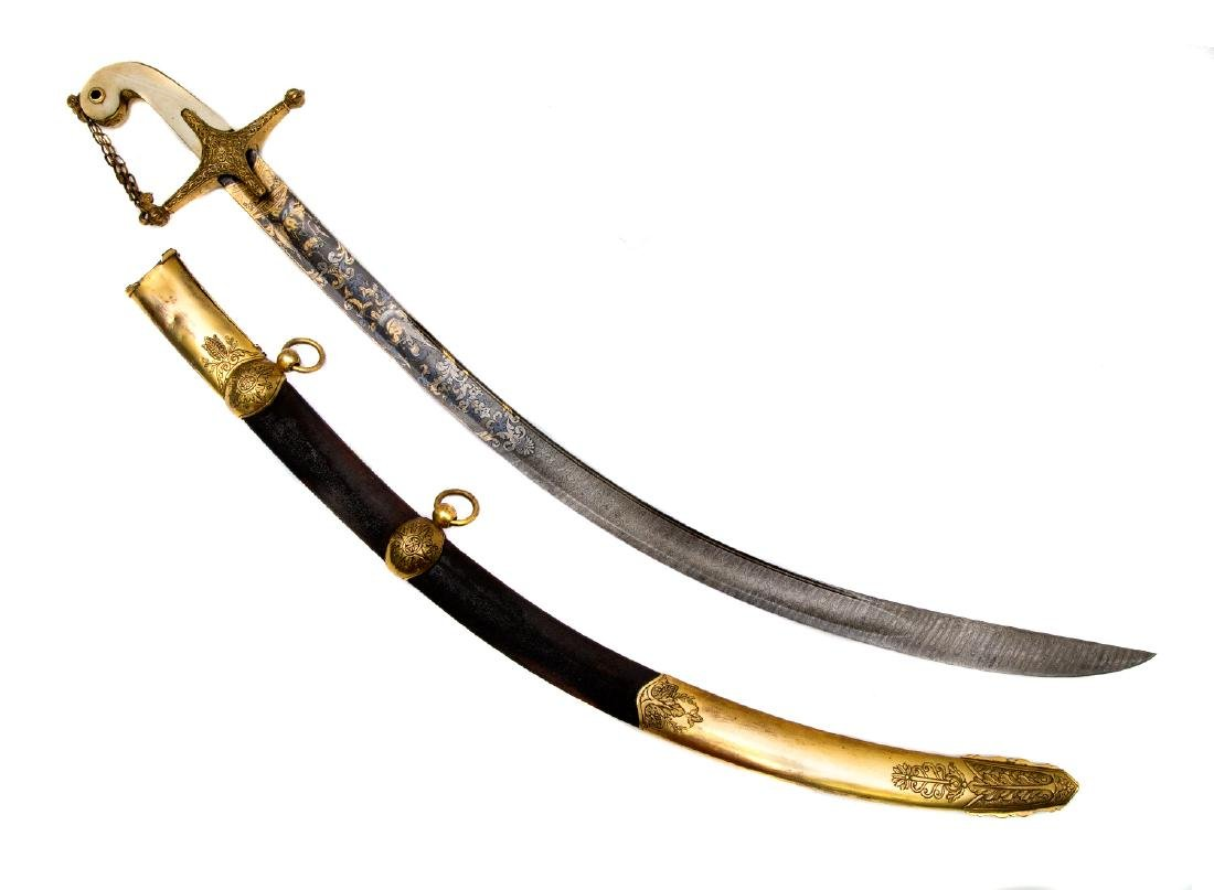 A FINE MAMELUKE-HILTED OFFICER'S SABER OF BELGIAN