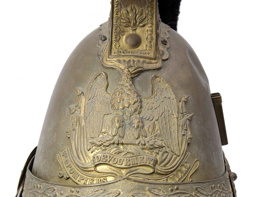 NICE BRASS FRENCH FIREFIGHTER HELMET, M1816 - 5