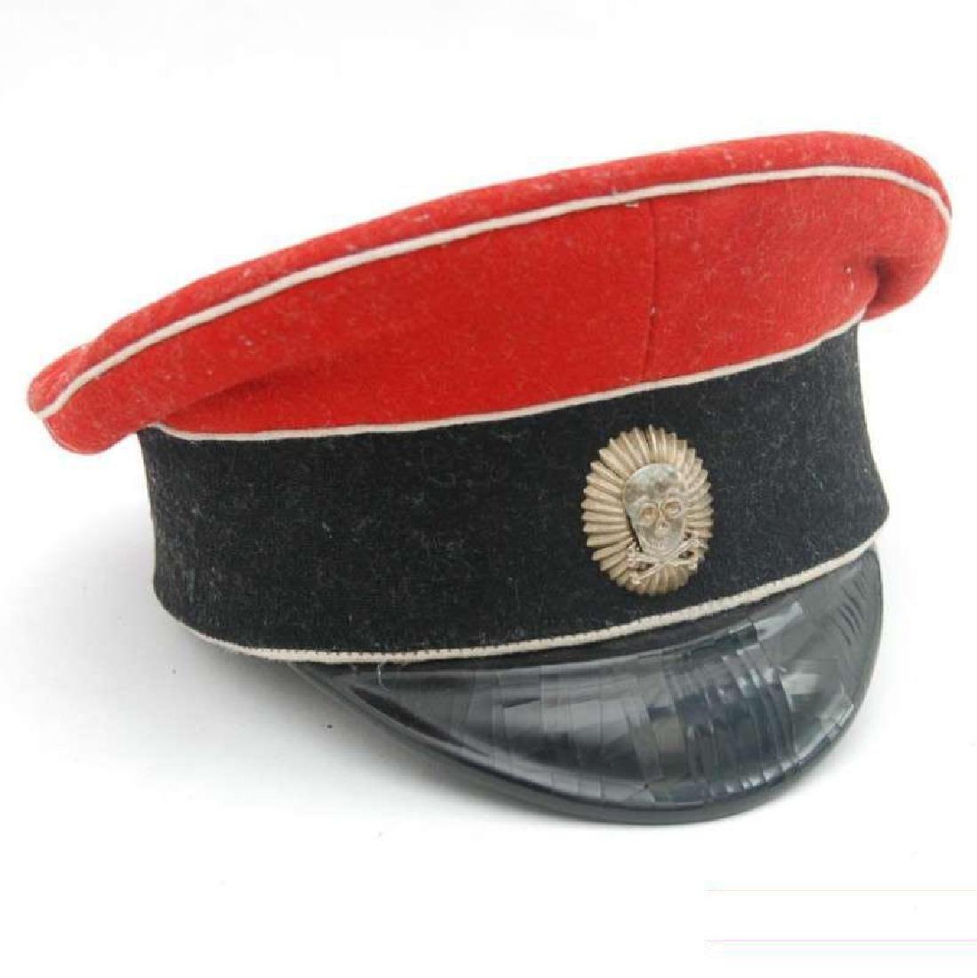 PEAK CAP OF KORNILOVSKY  REGIMENT WHITE Garde OFFICER