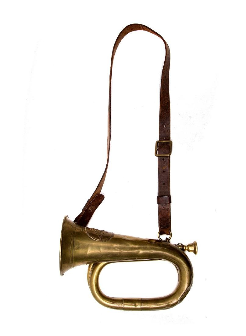 PRUSSIAN REGIMENTAL BRASS BUGLE, KLINGENTHAL