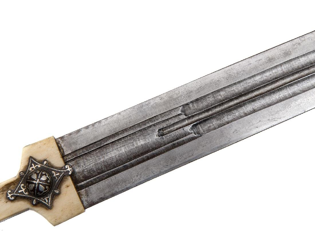 CAUCASIAN GEORGIAN DAGGER WITH SILVER INLAY, 19TH C. - 5
