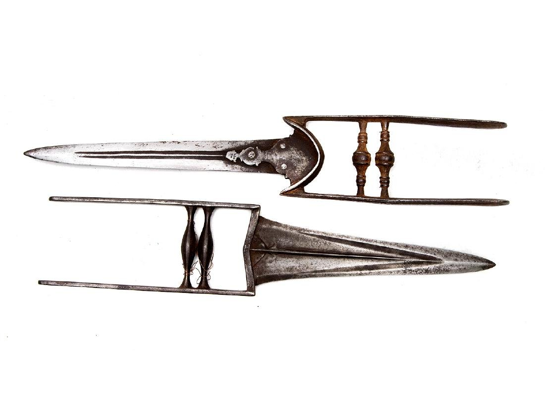 SET OF TWO INDIAN KADAR DAGGERS, 19TH C.