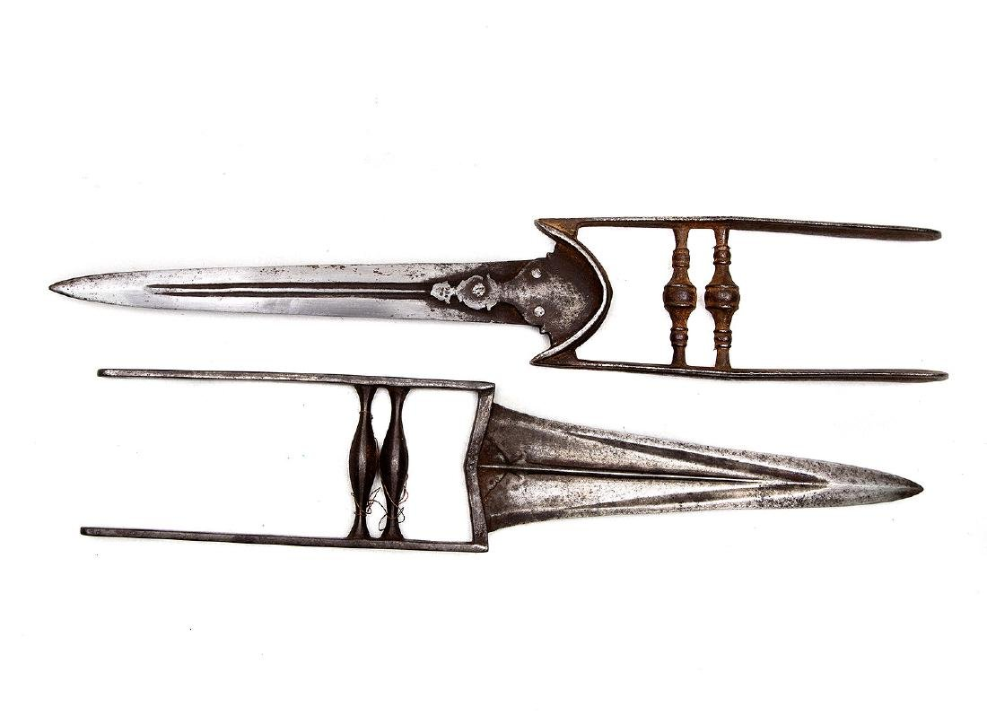 SET OF TWO INDIAN KADAR DAGGERS, 19TH C. - 2