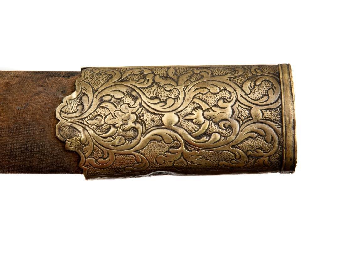 19TH C. GILT OTTOMAN TURKISH YATAGAN SWORD - 10