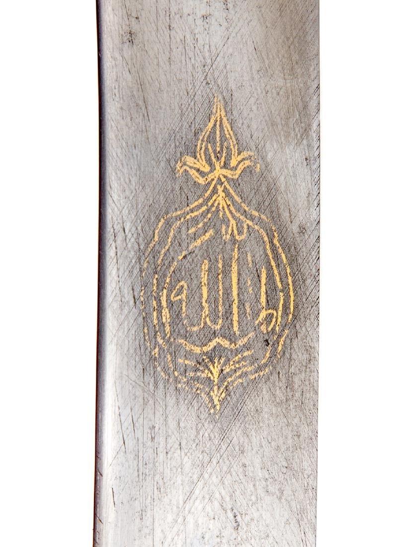 19TH C. GILT OTTOMAN TURKISH YATAGAN SWORD - 8