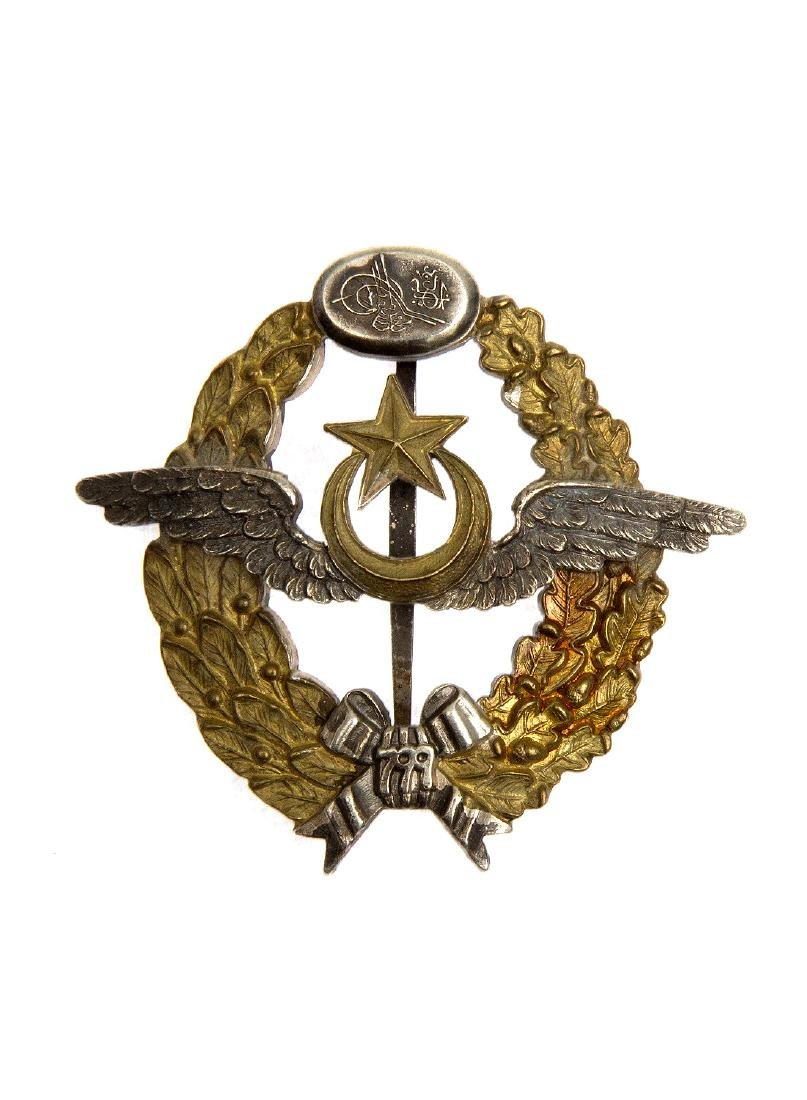 TURKISH PILOT SILVER BADGE, WWII