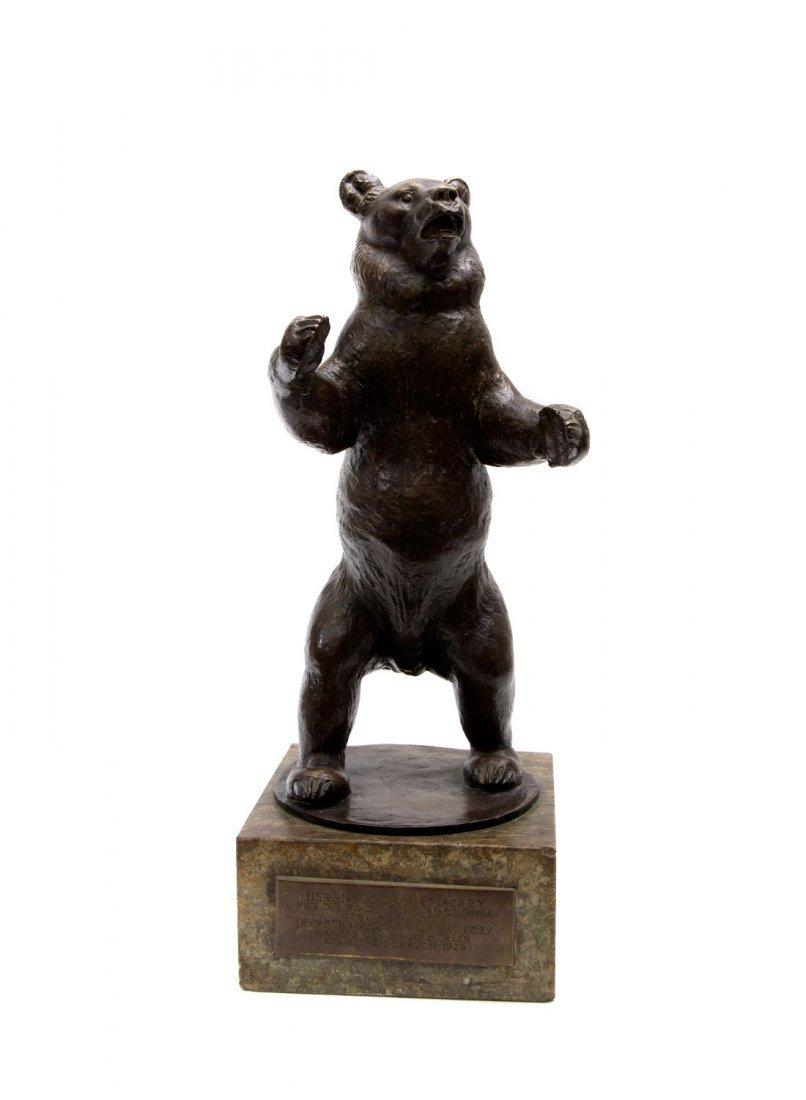 PRESENTATIONAL GERMAN BRONZE BEAR