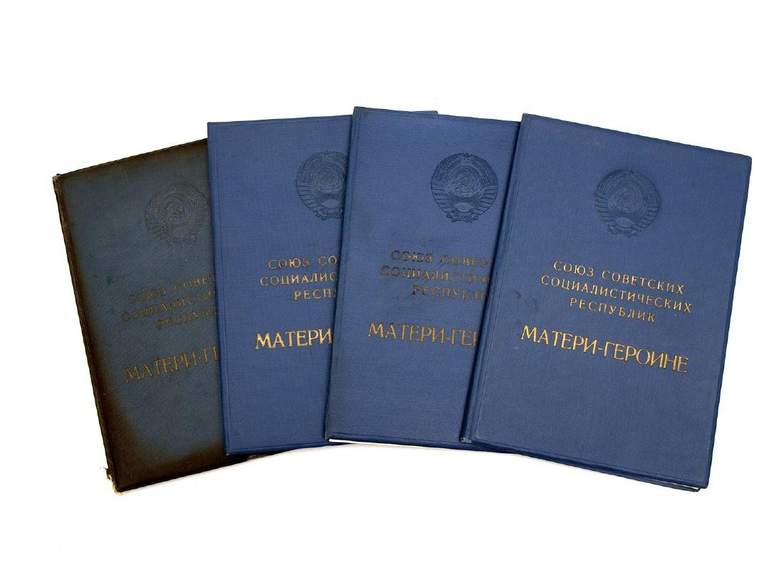 SET OF FOUR CERTIFICATES FOR THE MOTHER-OF-HEROINE - 2