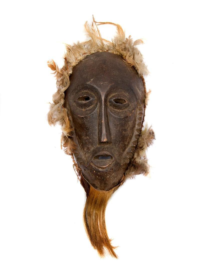 FEATHERED DAN MASK, IVORY COAST, AFRICA, 1900