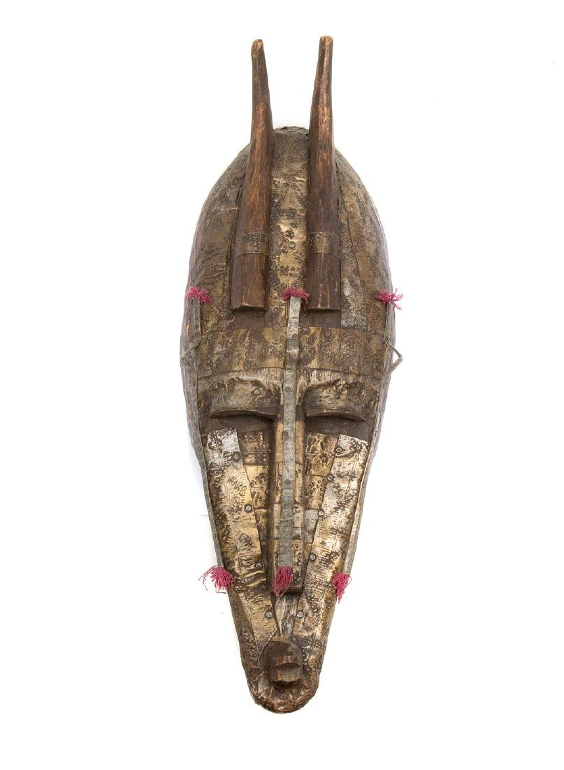 OLD AFRICAN MARKA MASK, PRIMITIVE TRIBAL ART, CA. 1900