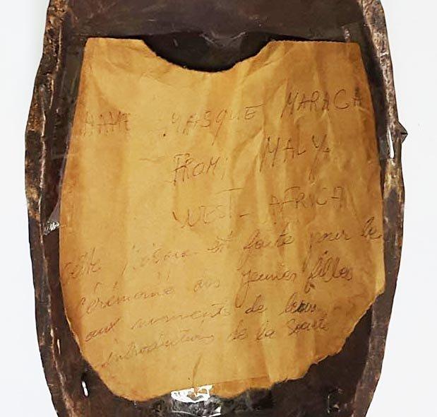 OLD AFRICAN MARKA MASK, PRIMITIVE TRIBAL ART, CA. 1900 - 3