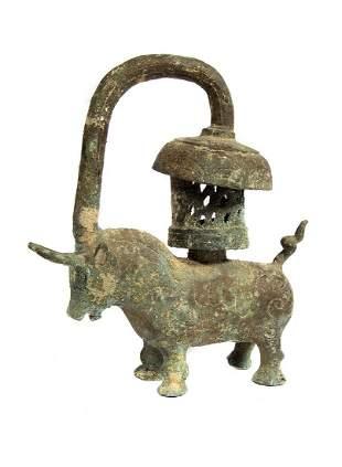 ANCIENT ASIAN BRONZE BULL CA 10TH C