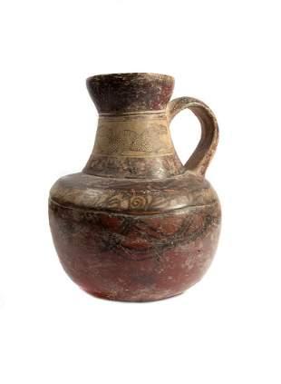 CENTRAL ASIAN OR SCYTHIAN CLAY POT 3 2 CC BC