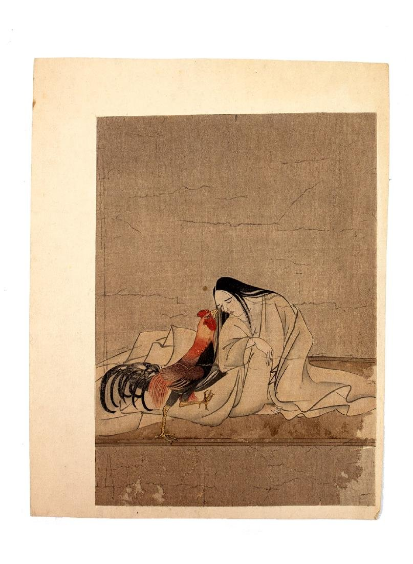 A SET OF TWO JAPANESE WOODBLOCK PRINTS, 19TH C.