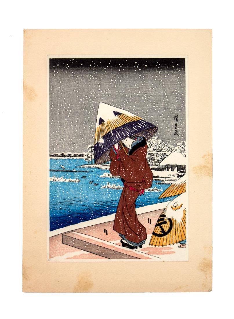 A JAPANESE WOODBLOCK PRINT BY TAKAMIZAWA MOKUHANSHA
