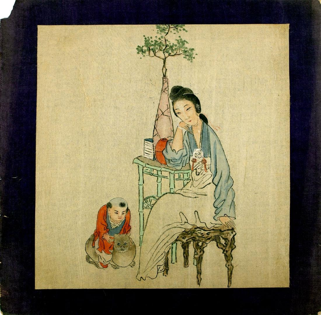 19-20 CC. THREE CHINESE PRINTS ON SILK