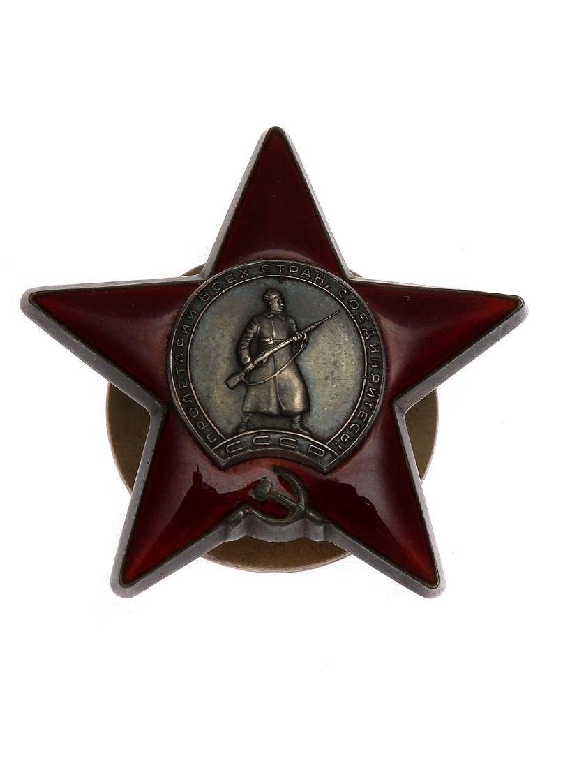 RARE BOXED SOVIET ORDER OF THE RED STAR - 2