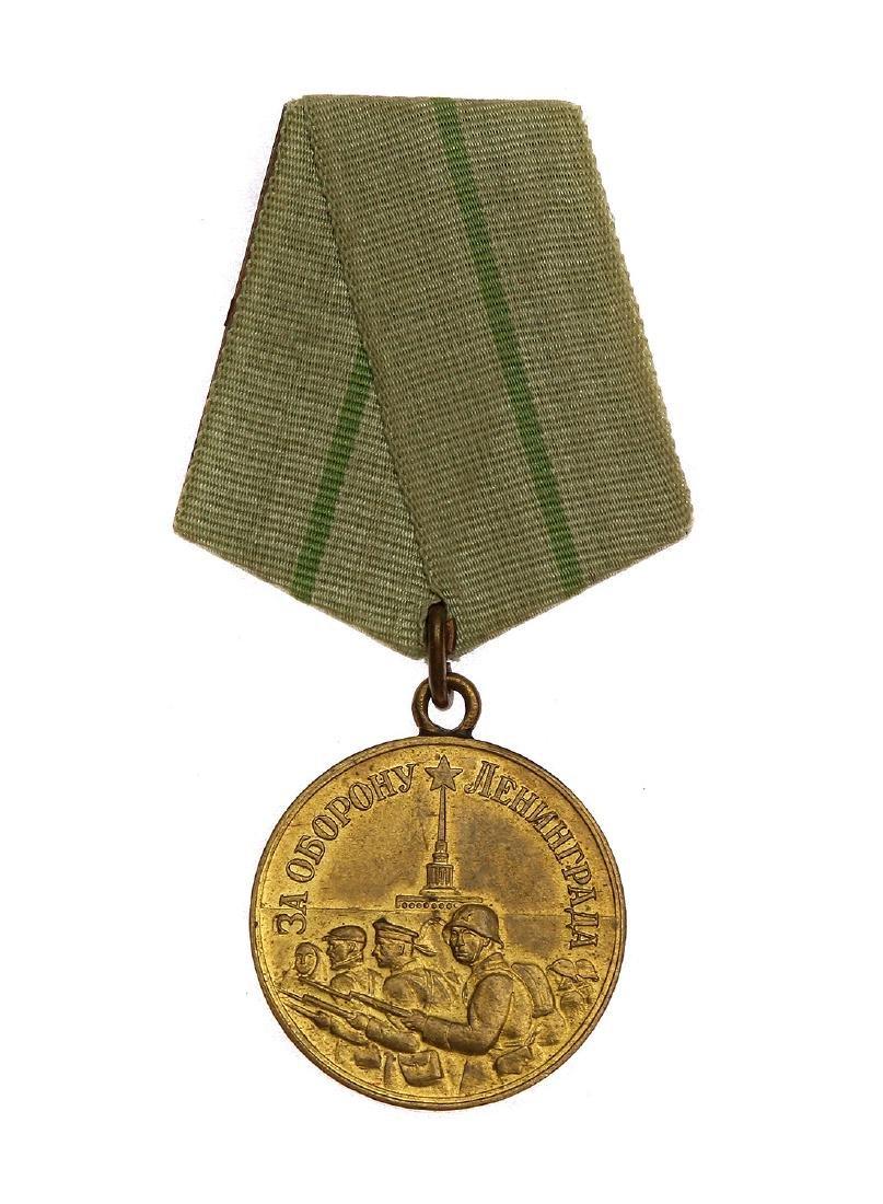 SOVIET WWII MEDAL FOR THE DEFENSE OF LENINGRAD