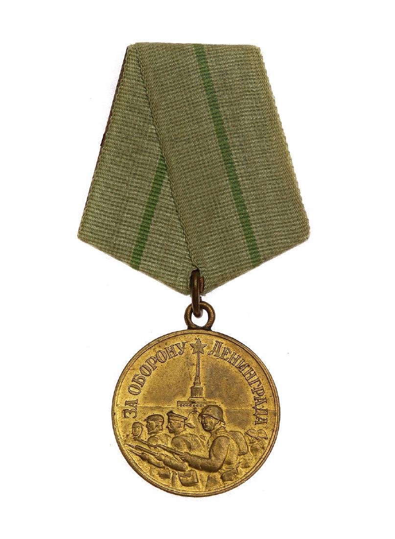 SOVIET WWII MEDAL FOR THE DEFENSE OF LENINGRAD
