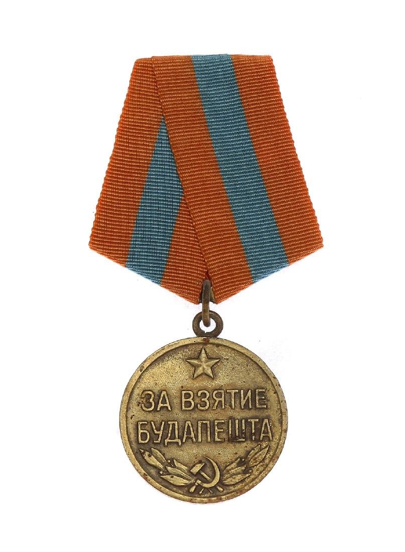 SOVIET WWII MEDAL FOR THE CAPTURE OF BUDAPEST