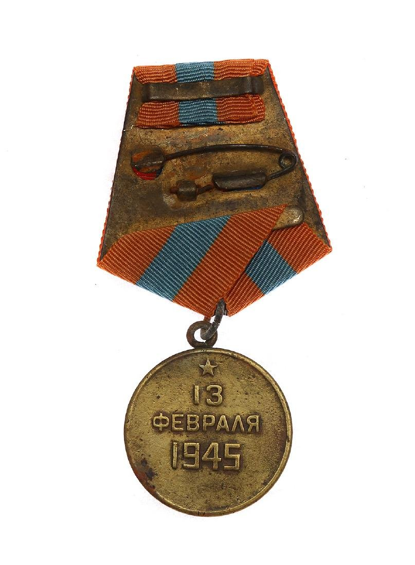 SOVIET WWII MEDAL FOR THE CAPTURE OF BUDAPEST - 2