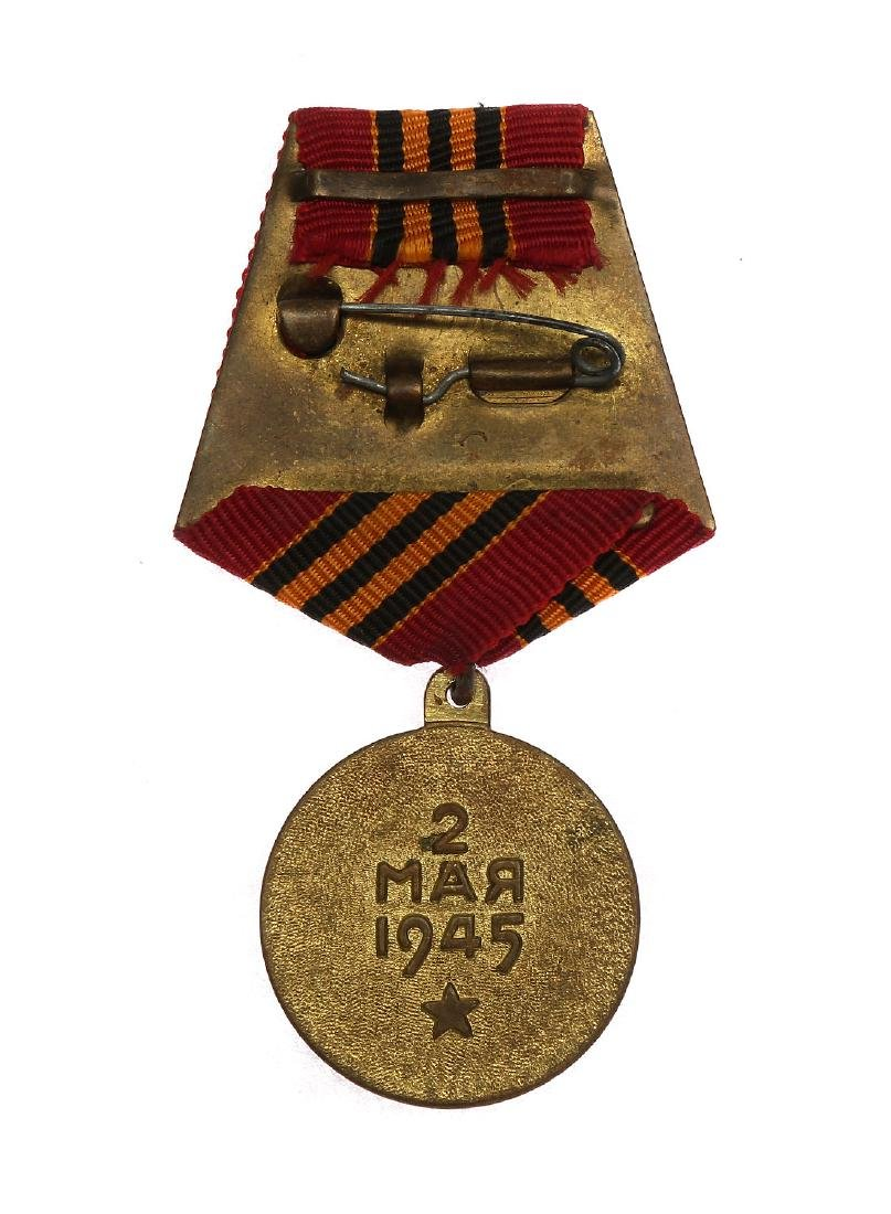 SOVIET WWII MEDAL FOR THE CAPTURE OF BERLIN - 2