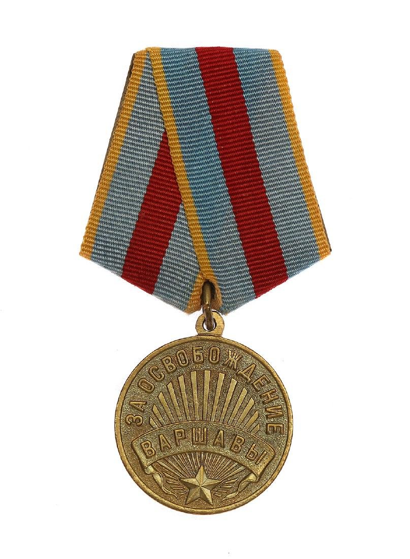SOVIET WWII MEDAL FOR THE LIBERATION OF WARSAW