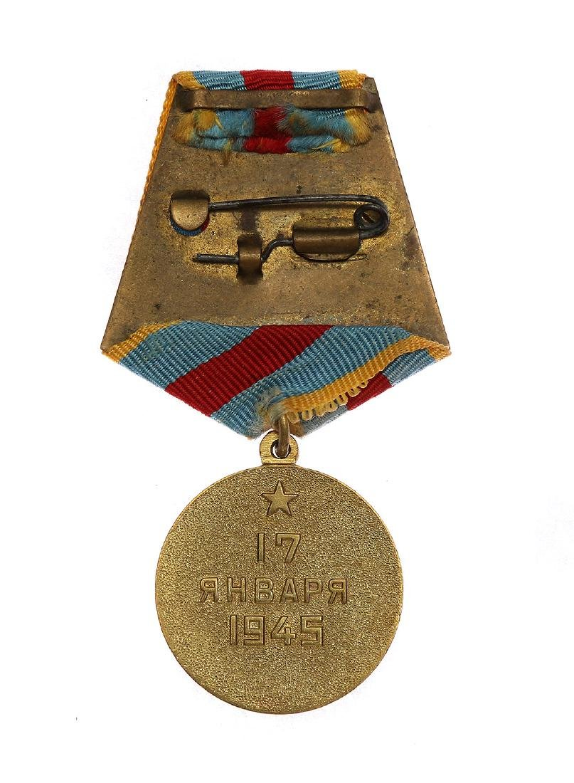 SOVIET WWII MEDAL FOR THE LIBERATION OF WARSAW - 2