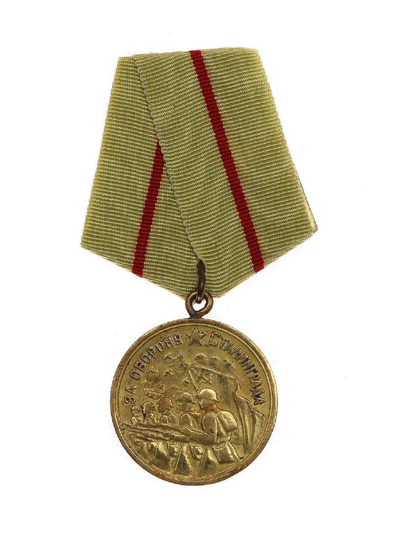 SOVIET WWII MEDAL FOR THE DEFENCE OF STALINGRAD