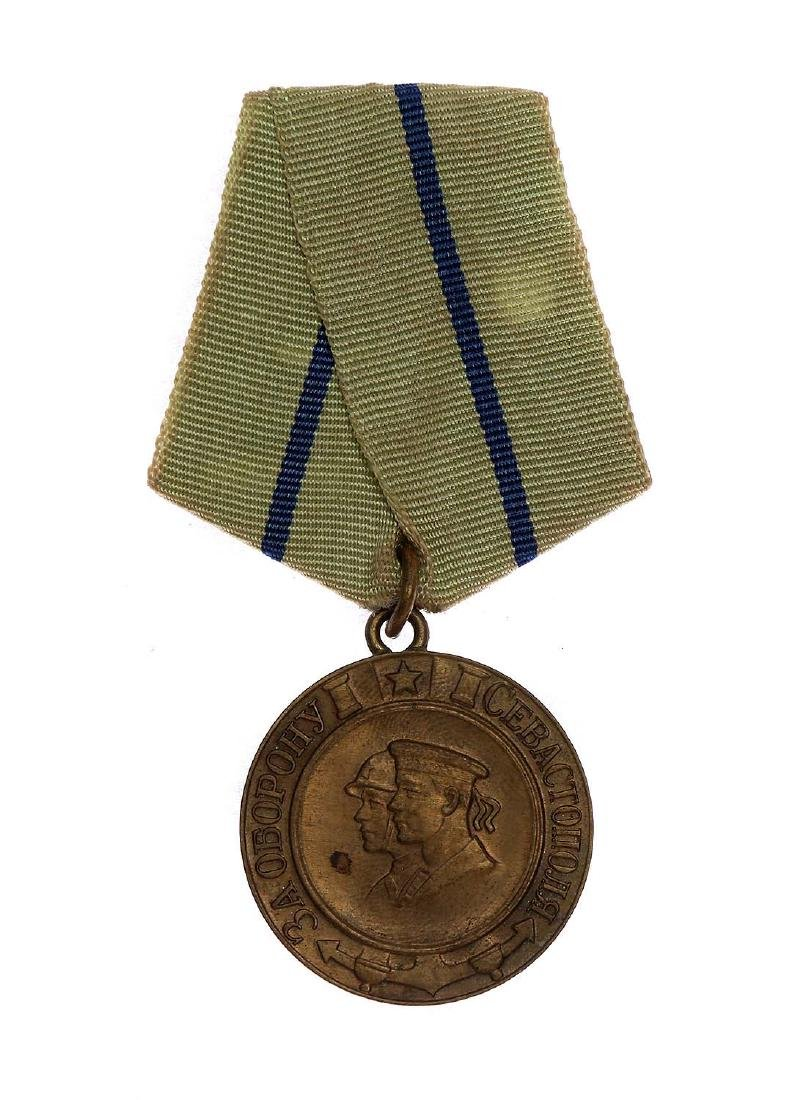 SOVIET WWII MEDAL FOR THE DEFENCE OF SEVASTOPOL