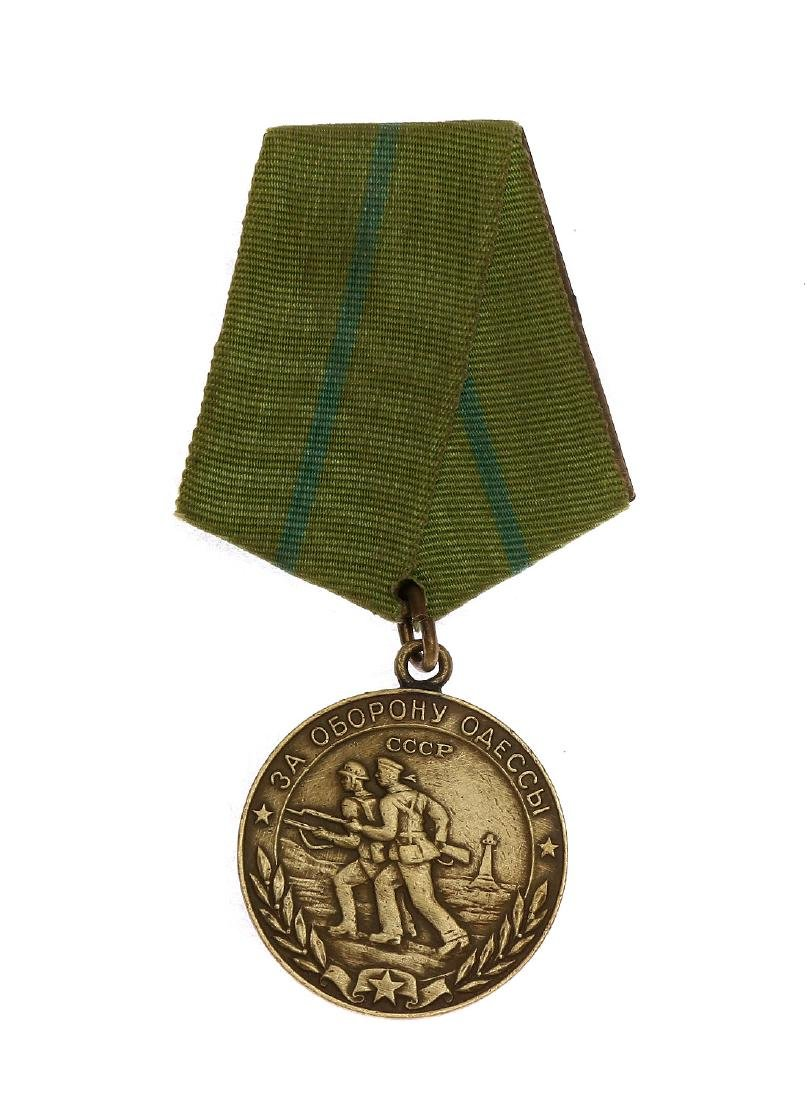 SOVIET MEDAL WWII FOR THE DEFENCE OF ODESSA