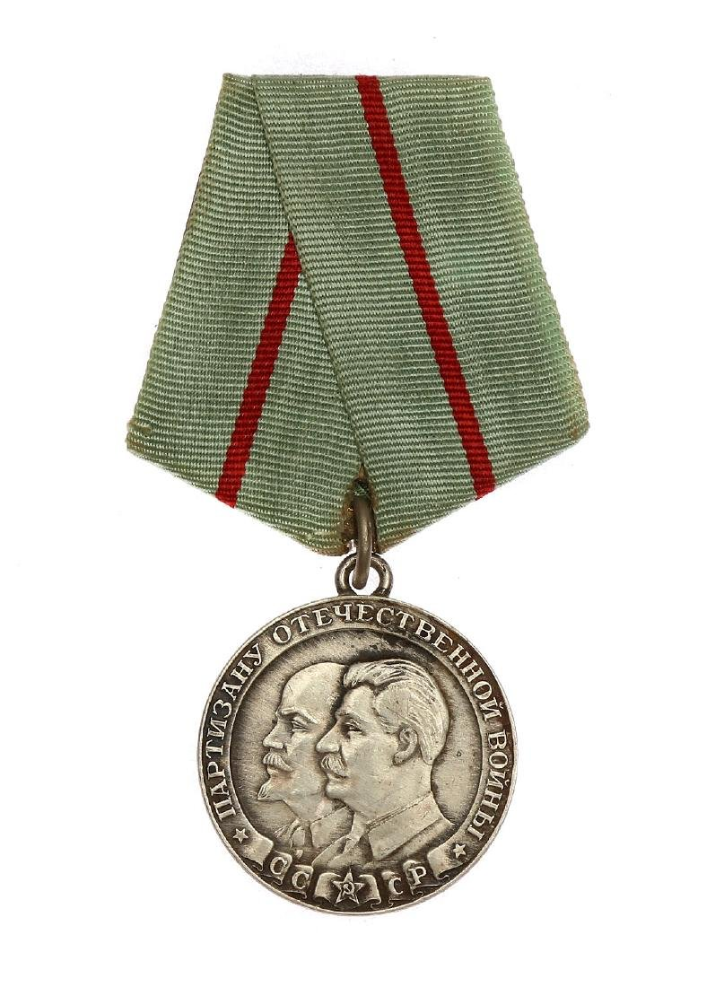 SOVIET WWII MEDAL TO A PARTISAN OF THE PATRIOTIC WAR