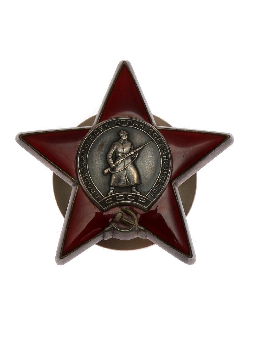 RARE BOXED SOVIET ORDER OF THE RED STAR - 3