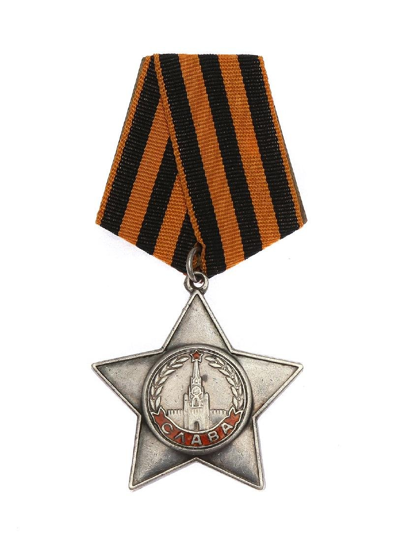 SOVIET WWII ORDER OF GLORY III CLASS WITH CERTIFICATE - 3