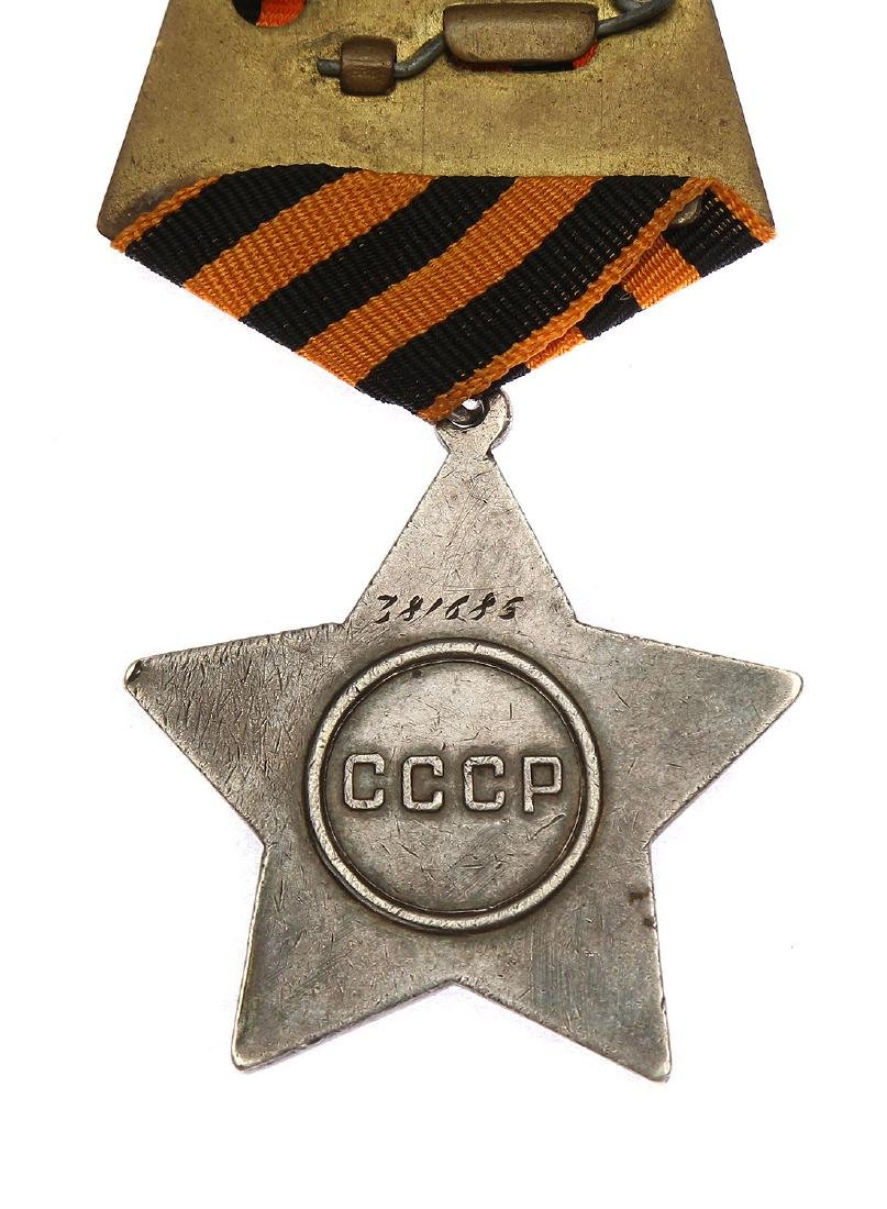 SOVIET WWII ORDER OF GLORY III CLASS WITH CERTIFICATE - 4