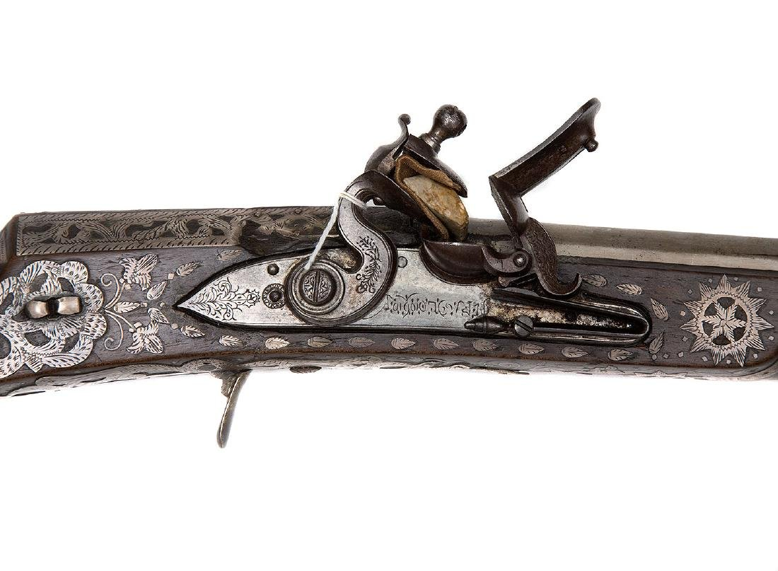 ISLAMIC NORTH AFRICAN PROBABLY ALGERIAN FLINTLOCK GUN - 2