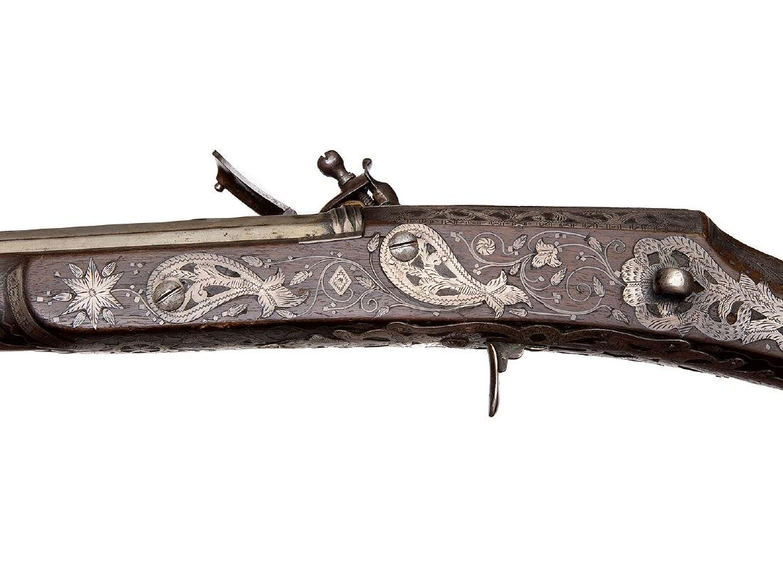 ISLAMIC NORTH AFRICAN PROBABLY ALGERIAN FLINTLOCK GUN - 6