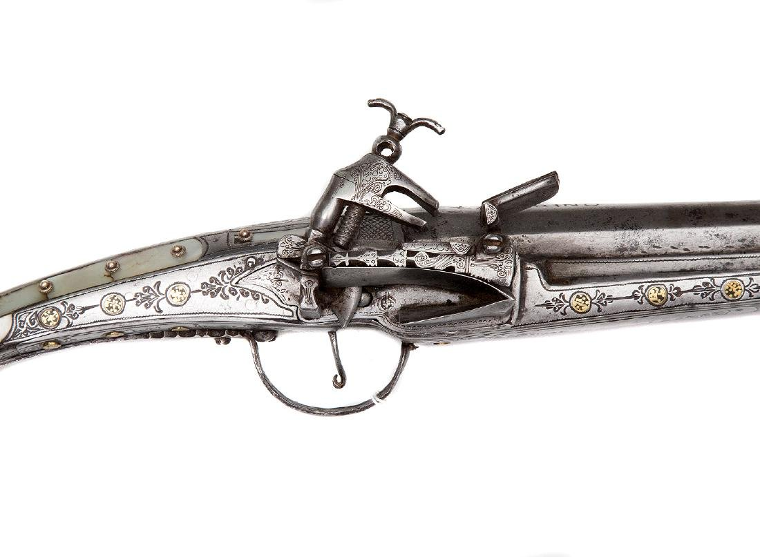 BALKAN OTTOMAN MUSKET WITH MOTHER OF PEARL, 19TH CEN. - 2