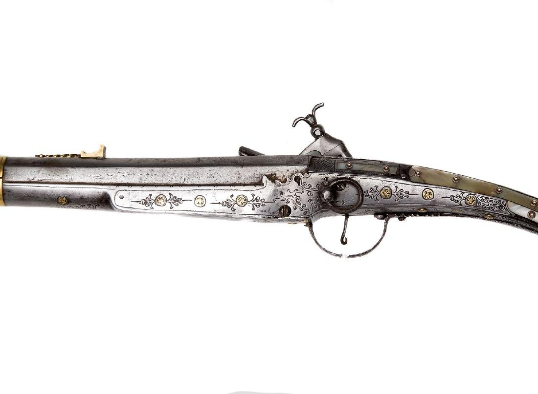 BALKAN OTTOMAN MUSKET WITH MOTHER OF PEARL, 19TH CEN. - 9